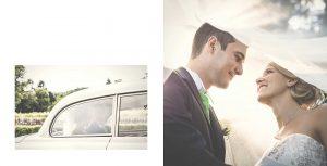 Scambi di sguardi tra gli sposi presso il giardino delle Pinete di Cantello