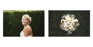 Ritratti della sposa nel suo giardino a Genestrerio, nel Canton Ticino, Svizzera