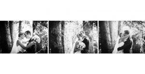 Ritratto degli sposi nel giardino de Le Pinete a Gaggiolo