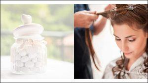 Il fotografo di matrimonio coglie dei dettagli della preparazione della sposa