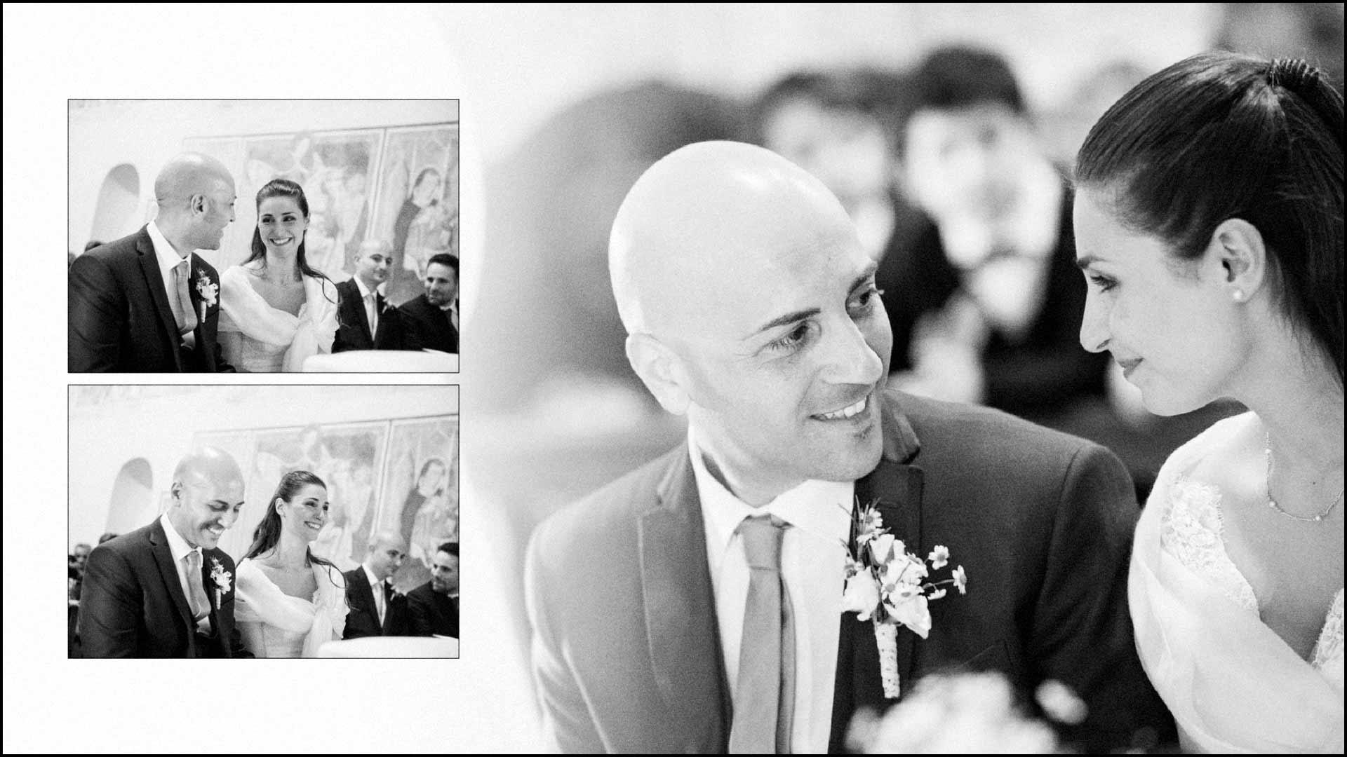 Scambio di sguardi durante la cerimonia nuziale