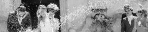 Il fotografo di matrimonio a Varese coglie il lancio del riso
